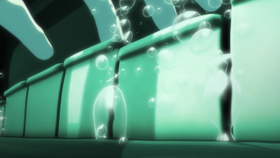 Your Lie In April Piano Underwater, bubbles between piano keys