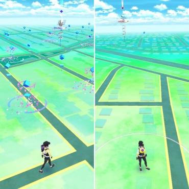 Pokemon Go in suburbs