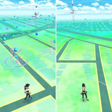 Pokemon Go in suburbs