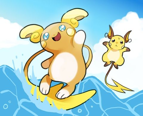 Alola Raichu fan art