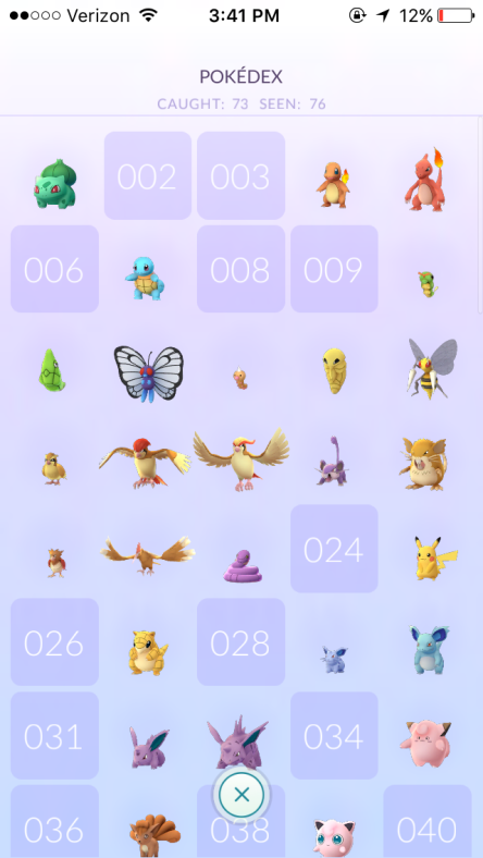 Pokemon Go Kanto Pokemon