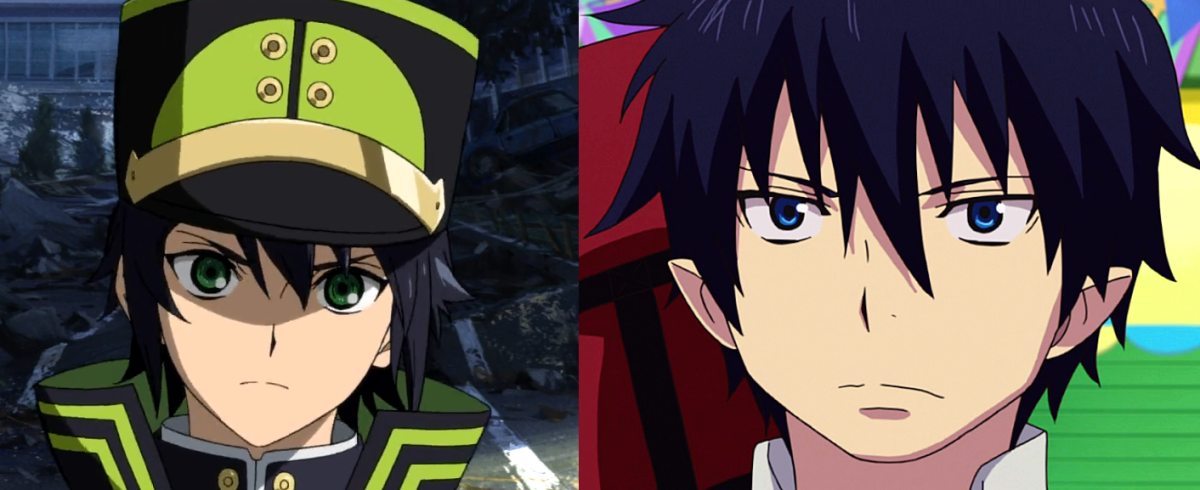 Similar Shonen Characters: Okumura Rin (Blue Exorcist) and Hyakuya Yuuichiro (Seraph of The End)