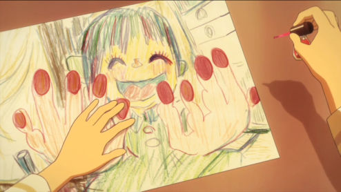 flip-flappers-episode-6-nail-polish-drawing-painting