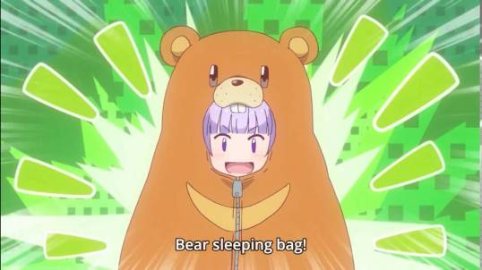 new-game-aoba-sleeping-bag-bear-cute