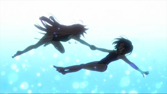 flip-flappers-episode-8-cocona-and-papika-falling-in-pool