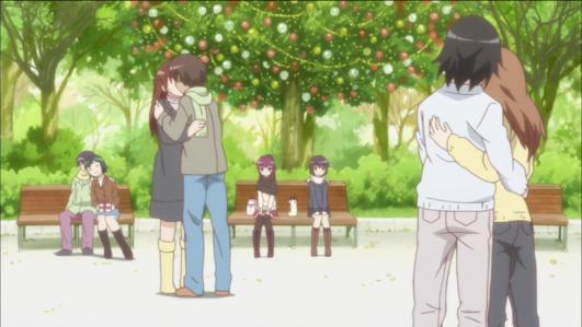 yuru-yuri-episode-7-christmas-yui-ayano-awkward