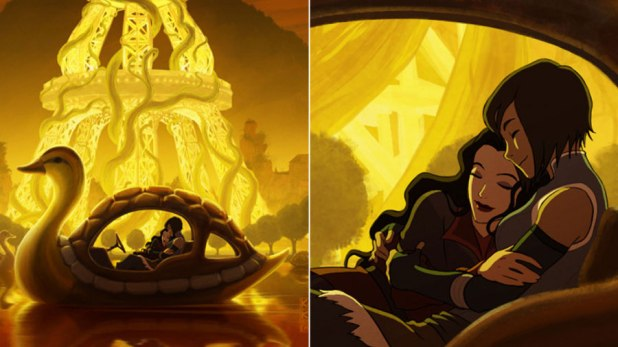 Offical Art of Korra and Asami
