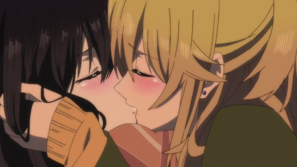 Citrus Anime Yuzu And Mei Kiss
