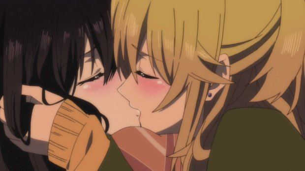 Citrus Anime Yuzu and Mei Kiss