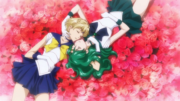 Sailor Moon Crystal Neptune and Uranus History of Yuri