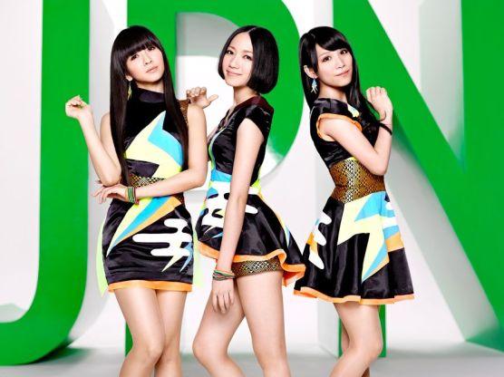 Perfume Members in JPN outfits