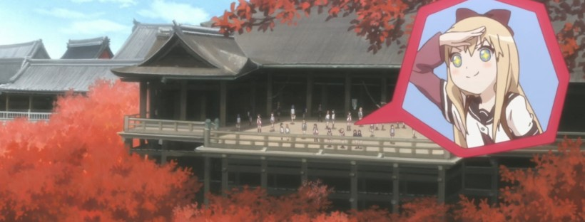 Yuru Yuri at famous Kyoto temple